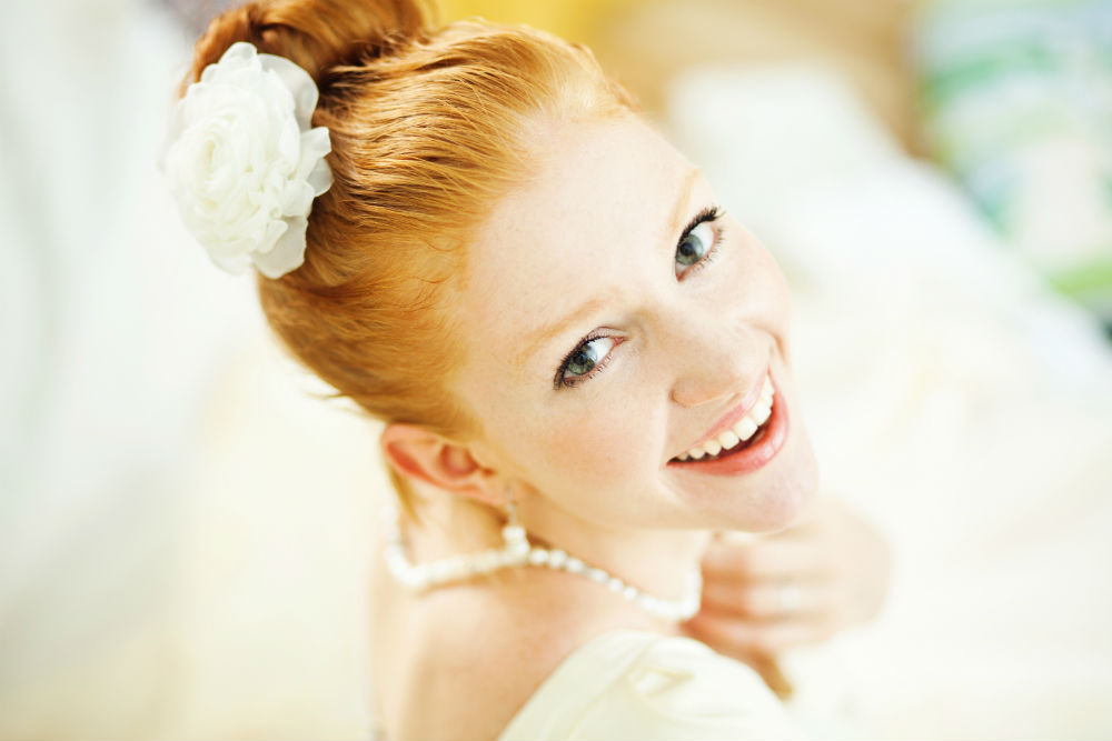 Bride with a beautiful smile